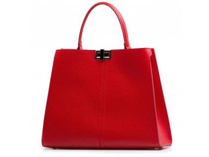 Kožená kabelka Moos červená