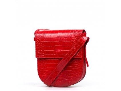 Kožená kabelka Gisa červená