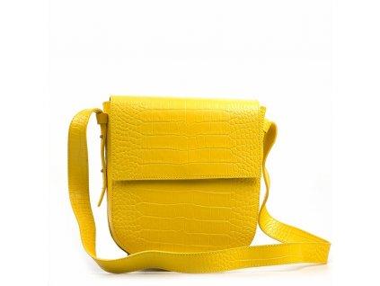 Kožená kabelka Gisa žlutá