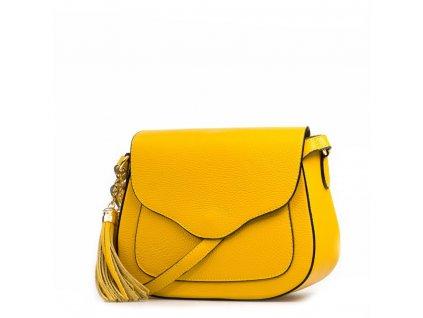 Kožená crossbody kabelka Fosca žlutá
