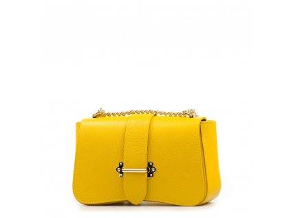 Kožená kabelka Coby žlutá