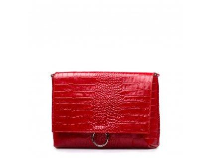 Kožená kabelka Elea červená