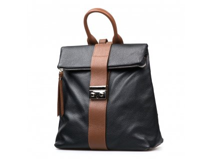 Kožený batůžek Greta černo-hnědý