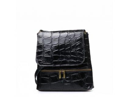 Kožená crossbody kabelka Giulia černá