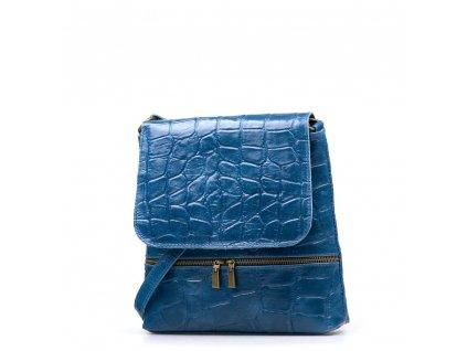 Kožená crossbody kabelka Giulia džínově modrá