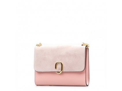 Kožená kabelka Bessy růžová