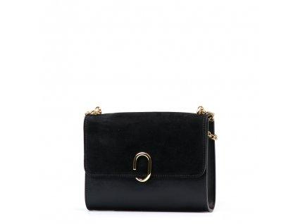 Kožená kabelka Bessy černá