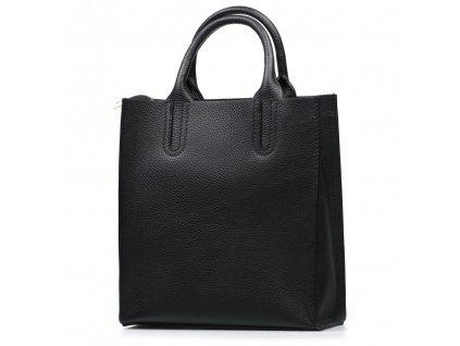Kožená kabelka Stefania černá