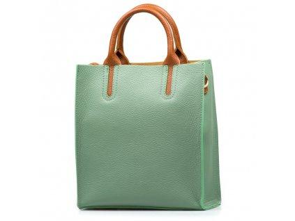 Kožená kabelka Stefania zelená