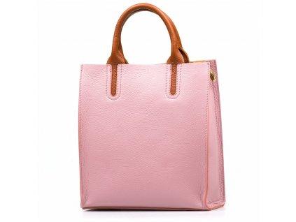 Kožená kabelka Stefania růžová
