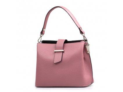 Kožená kabelka Angela růžová