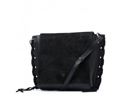 Kožená kabelka Cora černá