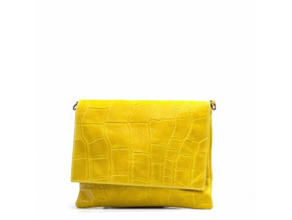 Kožená kabelka Melissa žlutá