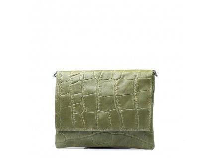Kožená kabelka Melissa zelená