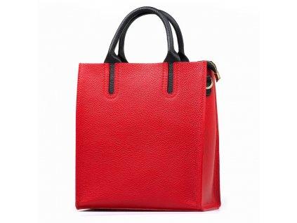 Kožená kabelka Stefania červená