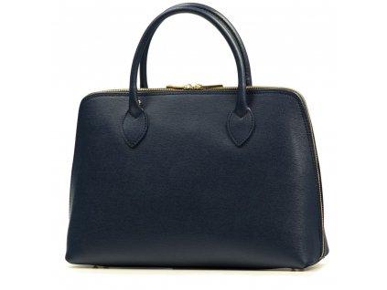 Kožená kabelka Egle tmavě modrá