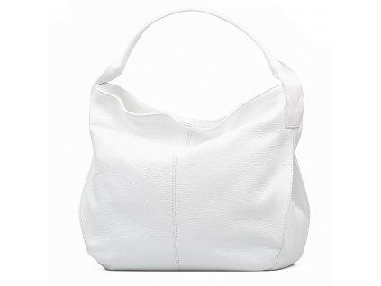 Kožená kabelka Ester bílá