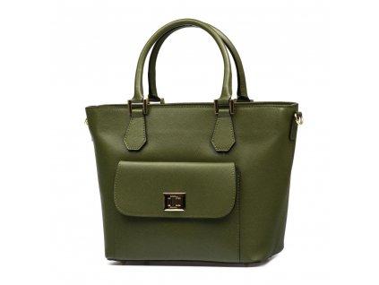 Kožená kabelka Debbie zelená