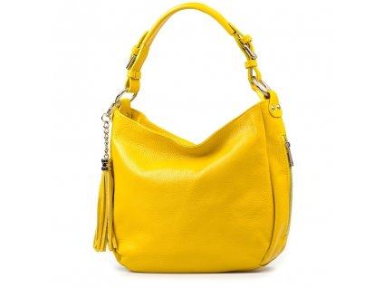 Kožená kabelka Mira žlutá