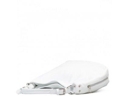 Kožená kabelka Mira bílá