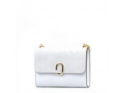 Kožená kabelka Bessy bílá
