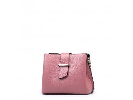 Kožená kabelka Margo růžová