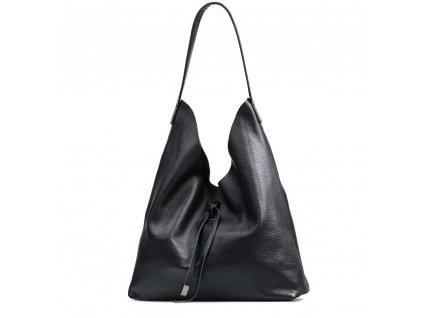 Kožená kabelka Livia černá
