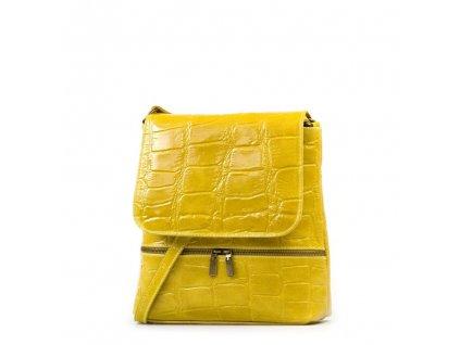 Kožená crossbody kabelka Giulia žlutá