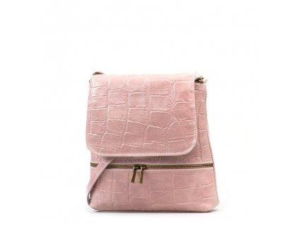 Kožená crossbody kabelka Giulia růžová