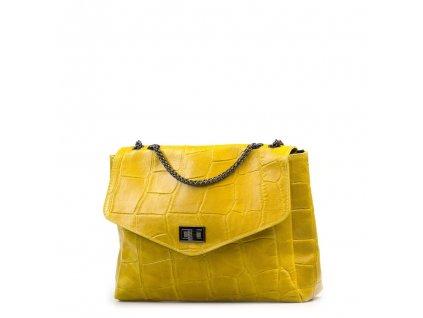 Kožená kabelka Bonita žlutá