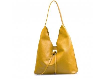 Kožená kabelka Livia žlutá
