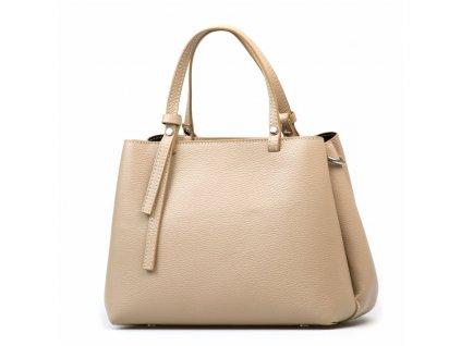 Kožená kabelka Marisa béžová