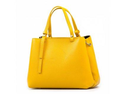 Kožená kabelka Marisa žlutá