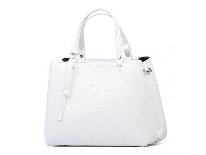 Kožená kabelka Marisa bílá