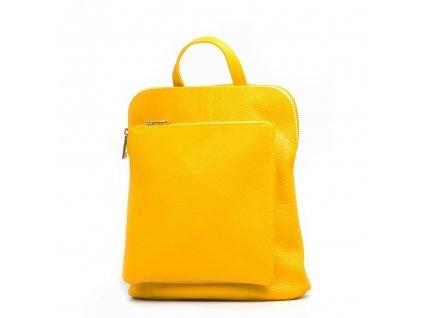 Kožený batůžek Tabby žlutý
