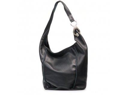 Kožená kabelka Alona černá