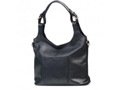 Kožená kabelka Vanna černá