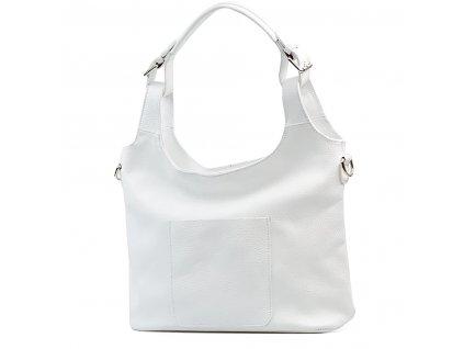 Kožená kabelka Vanna bílá