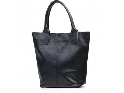 Kožená shopper kabelka Fiona černá
