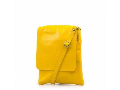 Kožená crossbody kabelka Lucia žlutá
