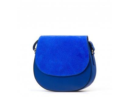 Kožená crossbody kabelka Sia modrá