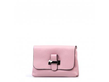 Kožená kabelka Ofra růžová