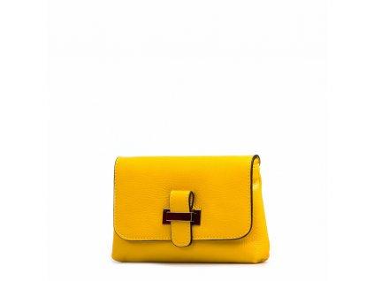 Kožená kabelka Ofra žlutá