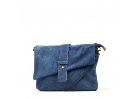 Kožená kabelka Eden džínově modrá