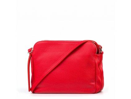 Kožená crossbody kabelka Leia červená