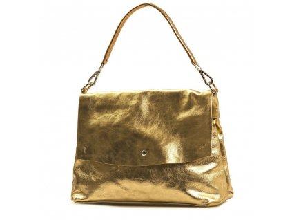 Kožená kabelka Briana zlatá