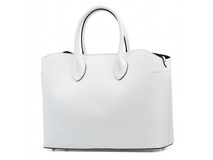 Kožená kabelka Claudia bílá