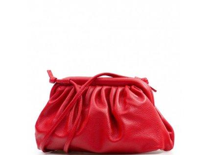 Kožená kabelka Selma červená