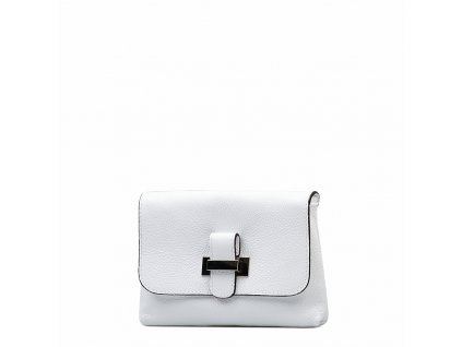 Kožená kabelka Ofra bílá