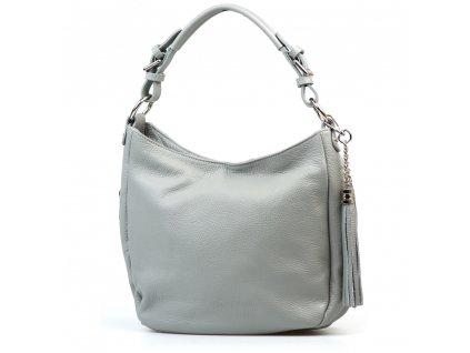Kožená kabelka Mira šedá